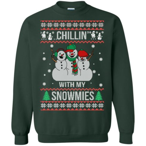 image 156 490x490px Chilling With My Snowmies Christmas Sweater