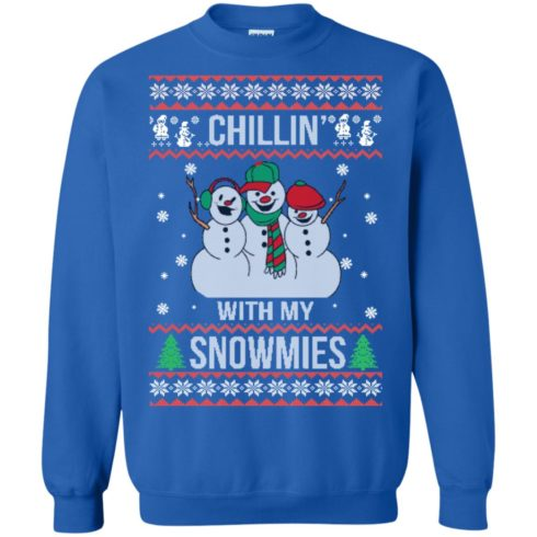 image 157 490x490px Chilling With My Snowmies Christmas Sweater
