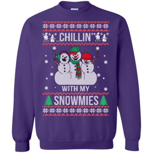 image 158 490x490px Chilling With My Snowmies Christmas Sweater