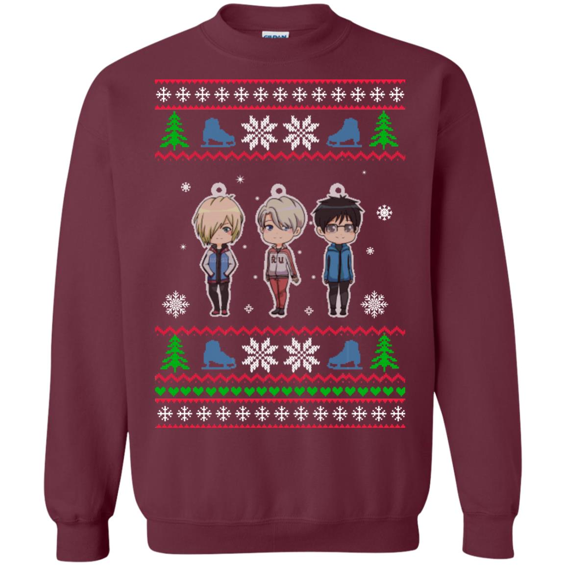 image 160px Yuri on ice ugly christmas sweater