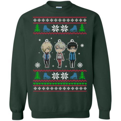 image 162 490x490px Yuri on ice ugly christmas sweater