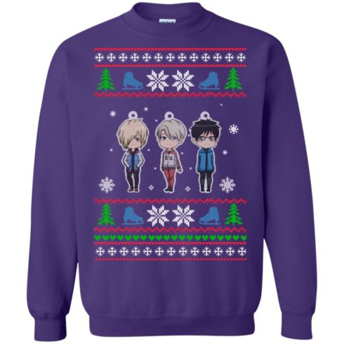 image 164 490x490px Yuri on ice ugly christmas sweater