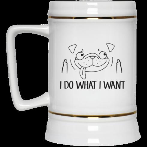 image 18 490x490px Pug Mug I Do What I Want Coffee Mug