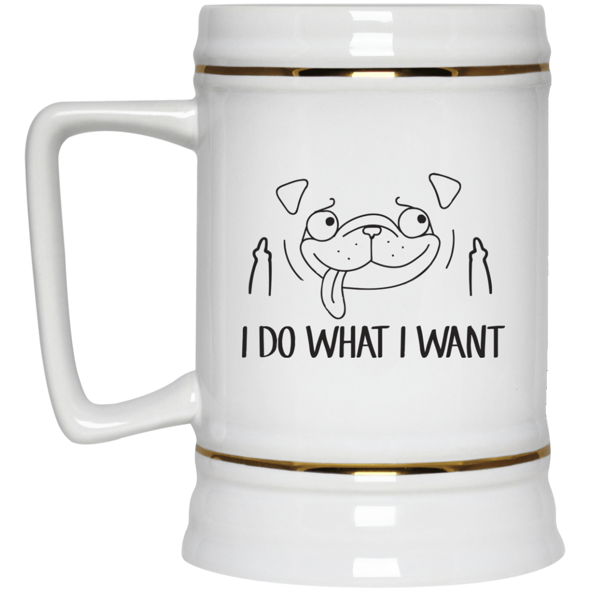 image 18px Pug Mug I Do What I Want Coffee Mug