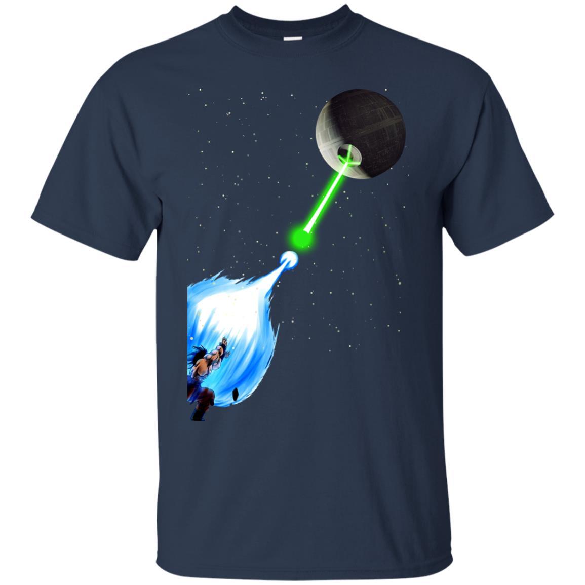 image 226px Dragon Ball Songoku vs Death Star Star Wars T Shirts, Hoodies, Tank Top