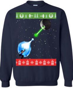 image 235 247x296px Dragon Ball Songoku vs Death Star Mashup Christmas Sweater