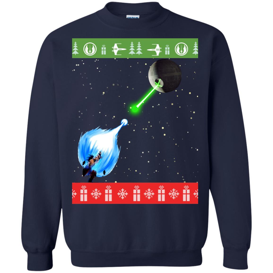 image 235px Dragon Ball Songoku vs Death Star Mashup Christmas Sweater