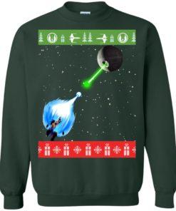 image 236 247x296px Dragon Ball Songoku vs Death Star Mashup Christmas Sweater