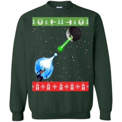 image 236 490x490px Dragon Ball Songoku vs Death Star Mashup Christmas Sweater