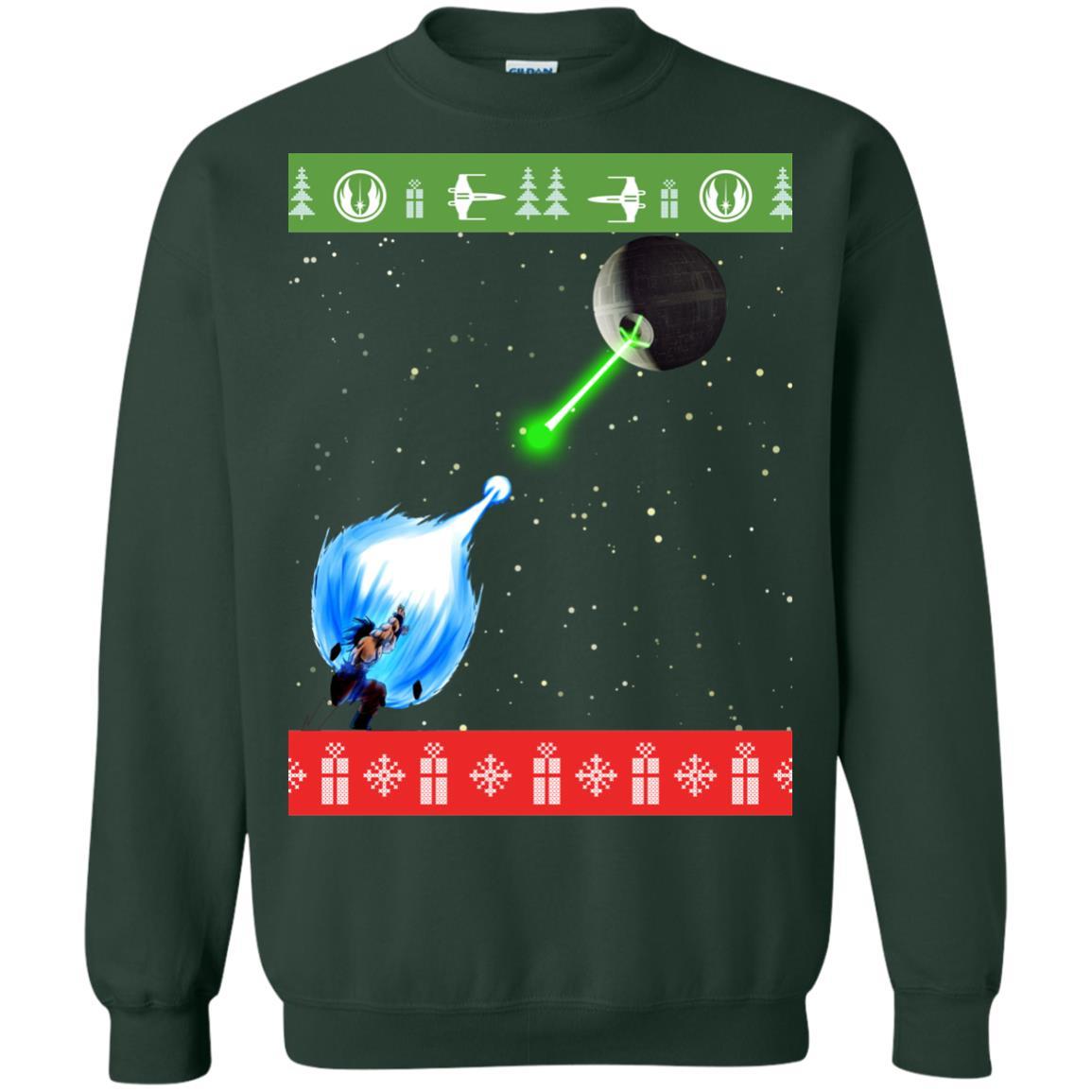 image 236px Dragon Ball Songoku vs Death Star Mashup Christmas Sweater