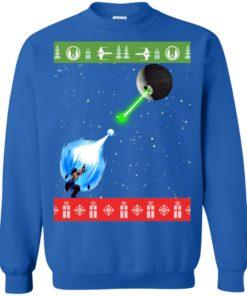 image 237 247x296px Dragon Ball Songoku vs Death Star Mashup Christmas Sweater