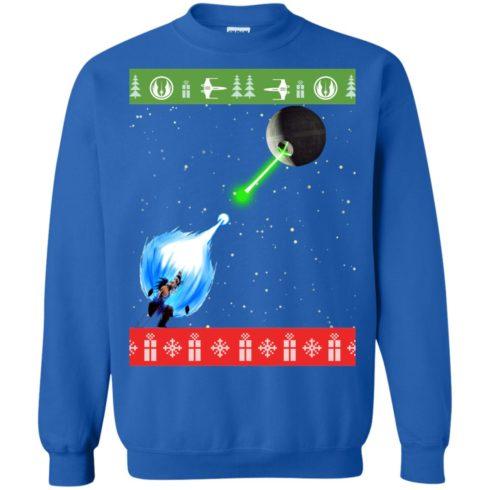 image 237 490x490px Dragon Ball Songoku vs Death Star Mashup Christmas Sweater