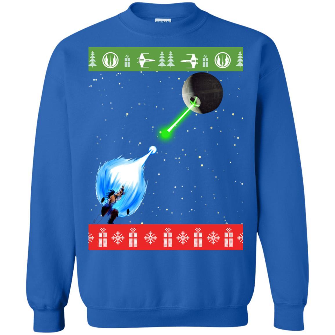 image 237px Dragon Ball Songoku vs Death Star Mashup Christmas Sweater
