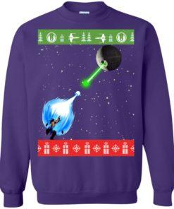 image 238 247x296px Dragon Ball Songoku vs Death Star Mashup Christmas Sweater