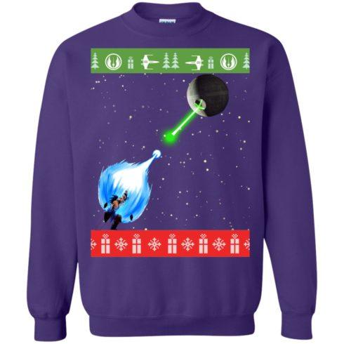 image 238 490x490px Dragon Ball Songoku vs Death Star Mashup Christmas Sweater