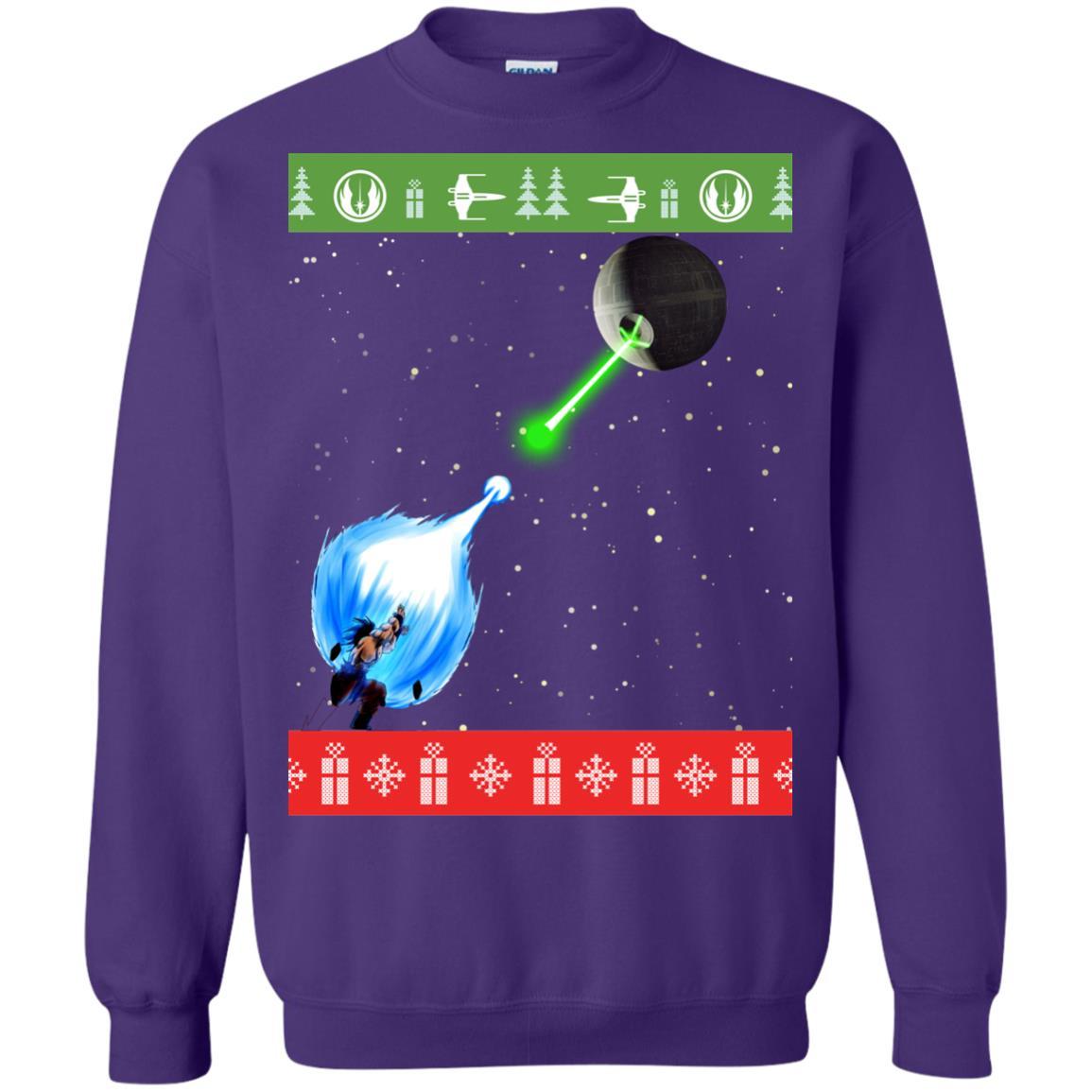 image 238px Dragon Ball Songoku vs Death Star Mashup Christmas Sweater