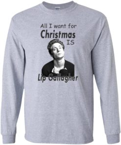 image 363 247x296px Shameless: All I want for Christmas is Lip Gallagher T Shirts, Hoodies, Tank Top