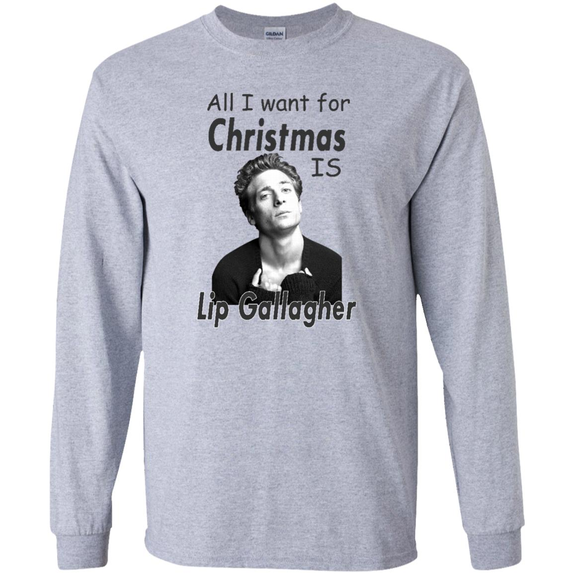 image 363px Shameless: All I want for Christmas is Lip Gallagher T Shirts, Hoodies, Tank Top