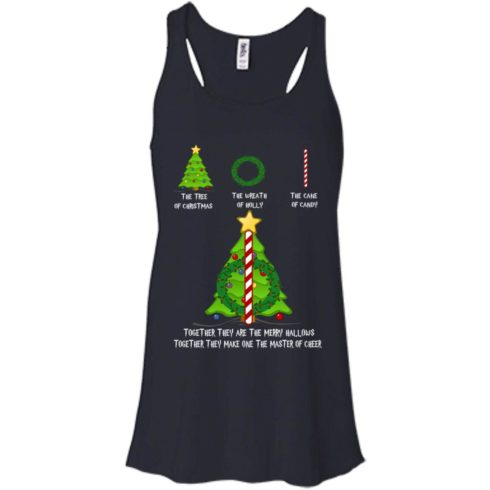 image 376 490x490px The Tree Of Christmas The Wreath of Holly The Cane Of Candy T Shirts