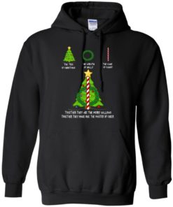 image 377 247x296px The Tree Of Christmas The Wreath of Holly The Cane Of Candy T Shirts