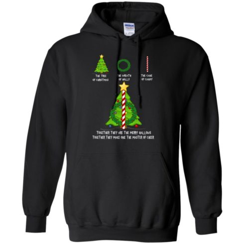 image 377 490x490px The Tree Of Christmas The Wreath of Holly The Cane Of Candy T Shirts