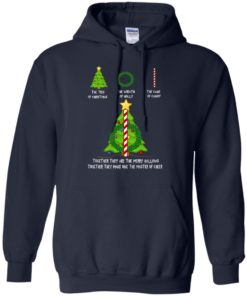 image 378 247x296px The Tree Of Christmas The Wreath of Holly The Cane Of Candy T Shirts