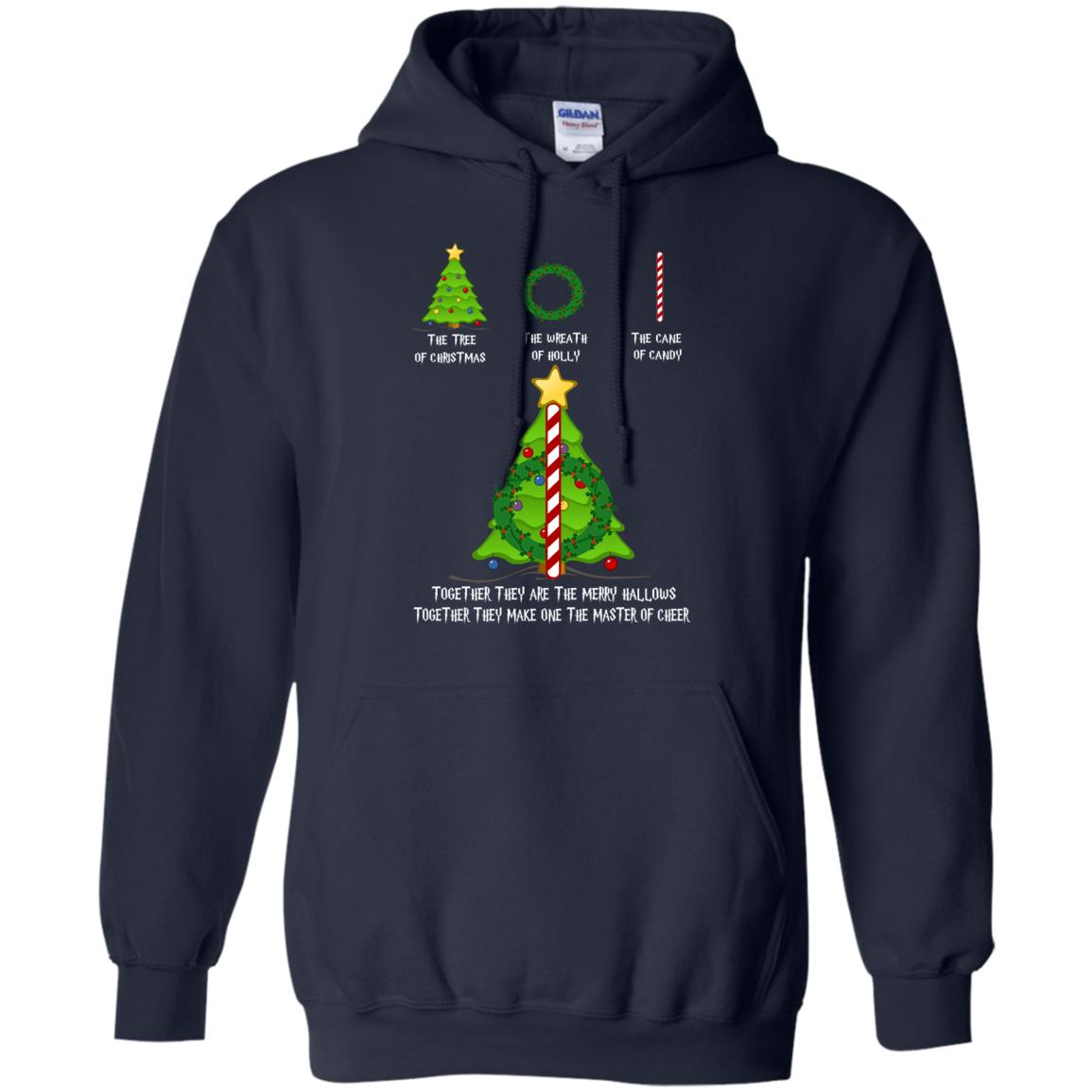 image 378px The Tree Of Christmas The Wreath of Holly The Cane Of Candy T Shirts
