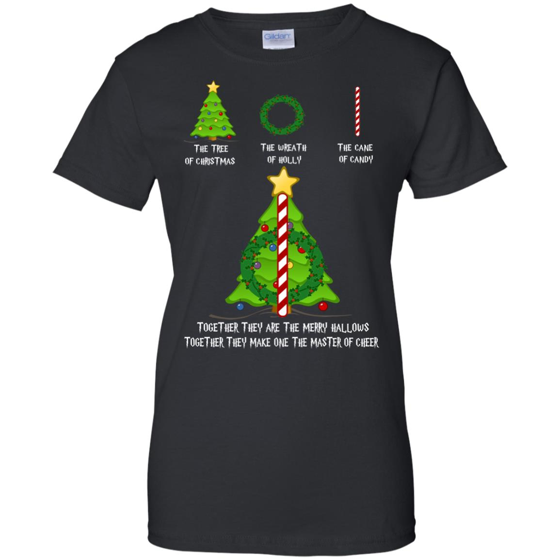 image 379px The Tree Of Christmas The Wreath of Holly The Cane Of Candy T Shirts