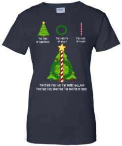 image 380 247x296px The Tree Of Christmas The Wreath of Holly The Cane Of Candy T Shirts