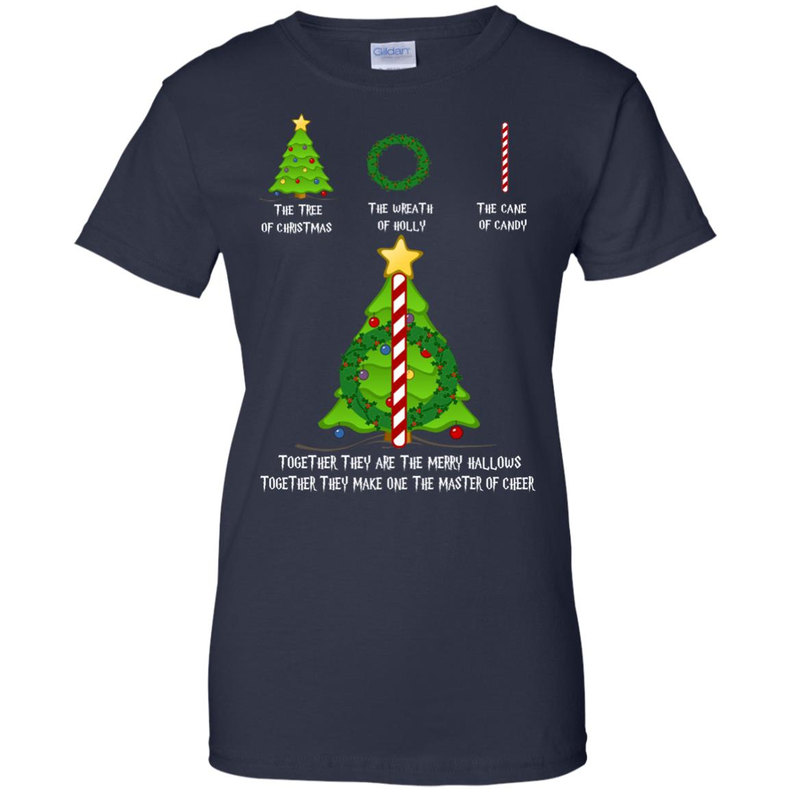 image 380px The Tree Of Christmas The Wreath of Holly The Cane Of Candy T Shirts