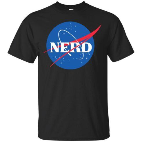 image 394 490x490px Nerd Nasa Logo T Shirts