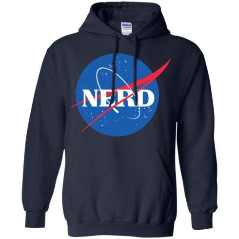 image 399 490x490px Nerd Nasa Logo T Shirts