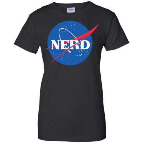 image 400 490x490px Nerd Nasa Logo T Shirts