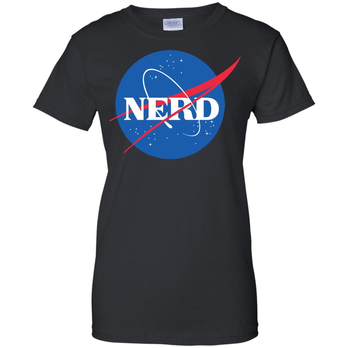 image 400px Nerd Nasa Logo T Shirts