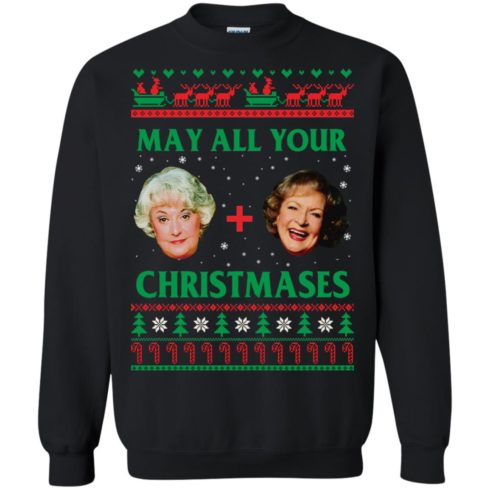 image 418 490x490px The Golden Girls: Dorothy and Rose May All Your Christmases Sweater