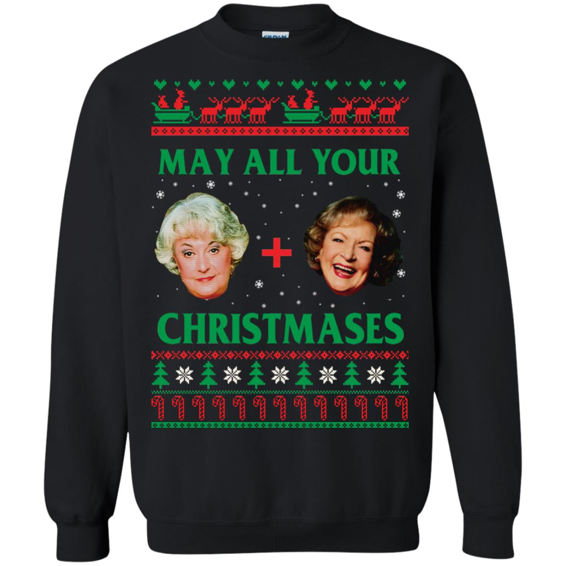 image 418px The Golden Girls: Dorothy and Rose May All Your Christmases Sweater