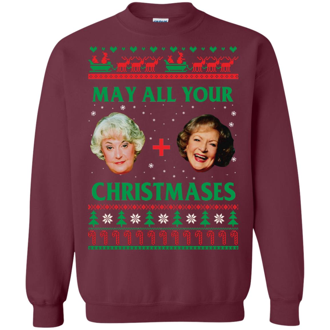 image 419px The Golden Girls: Dorothy and Rose May All Your Christmases Sweater