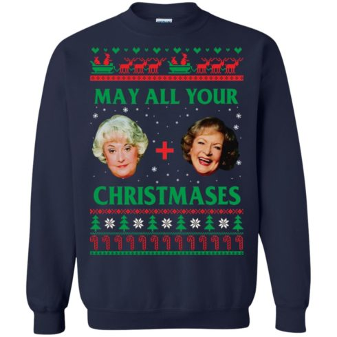 image 420 490x490px The Golden Girls: Dorothy and Rose May All Your Christmases Sweater