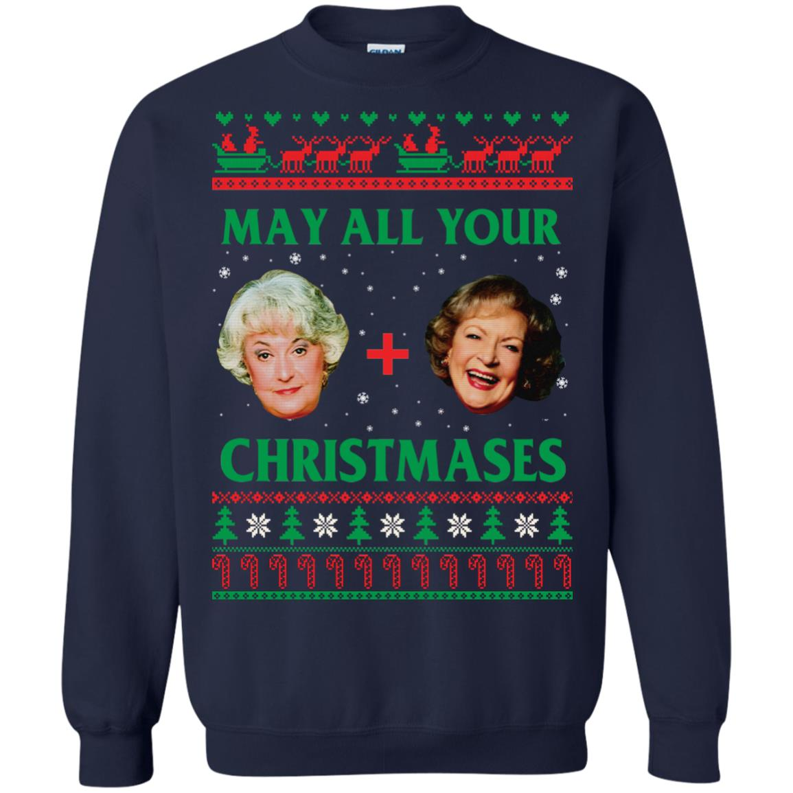 image 420px The Golden Girls: Dorothy and Rose May All Your Christmases Sweater