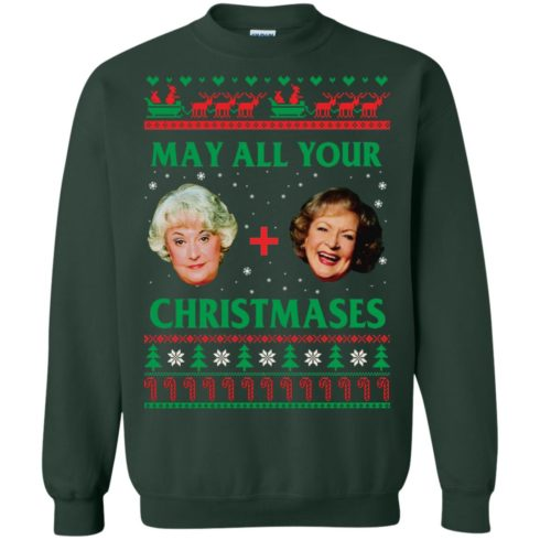 image 421 490x490px The Golden Girls: Dorothy and Rose May All Your Christmases Sweater