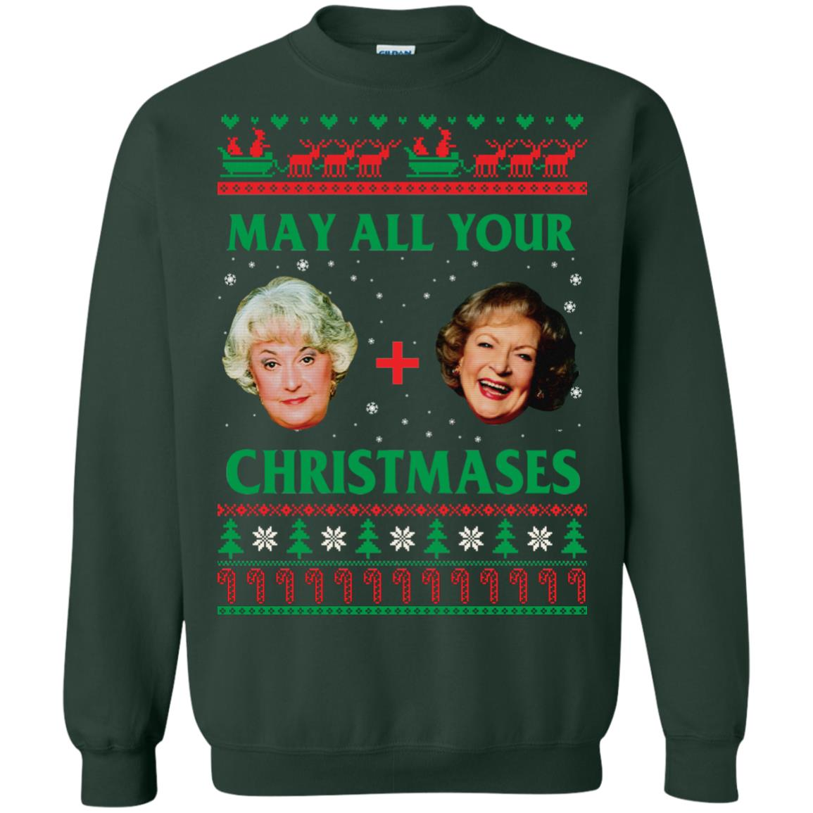 image 421px The Golden Girls: Dorothy and Rose May All Your Christmases Sweater