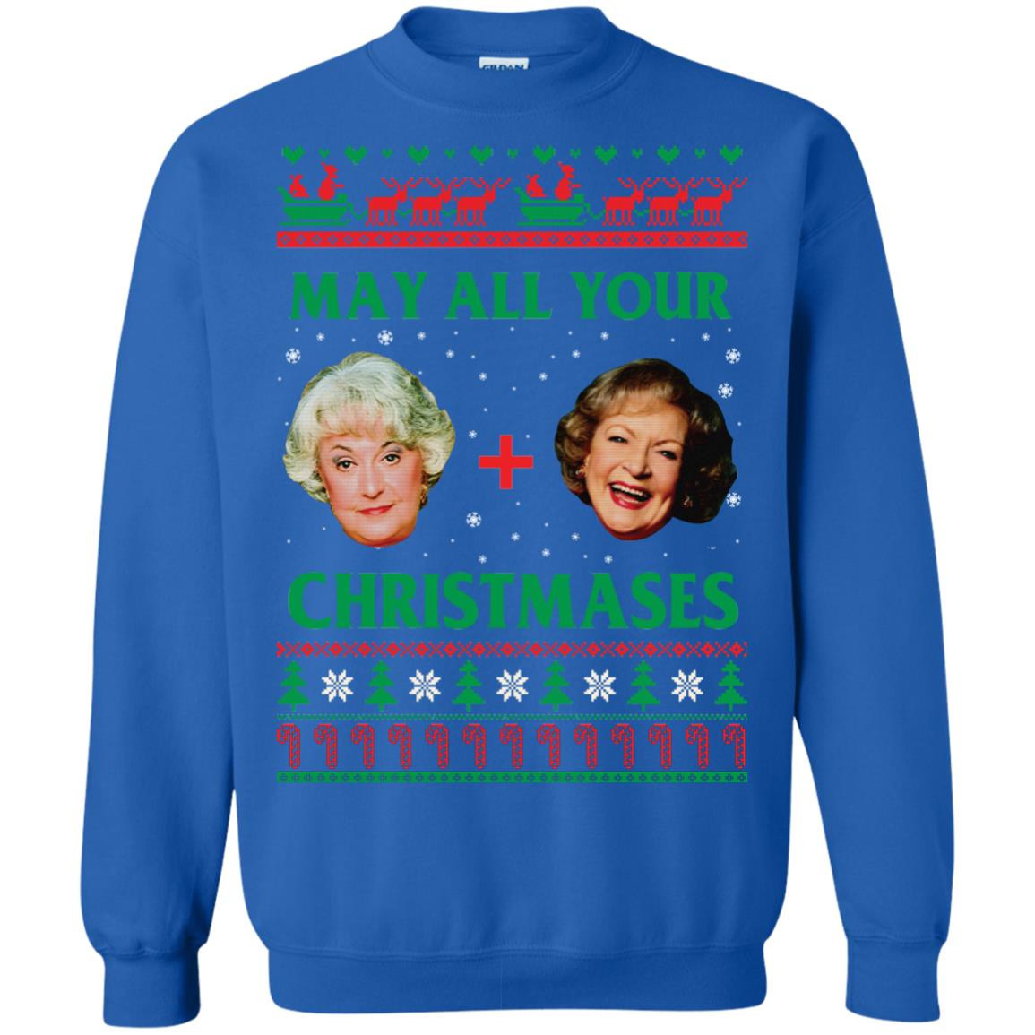 image 422px The Golden Girls: Dorothy and Rose May All Your Christmases Sweater