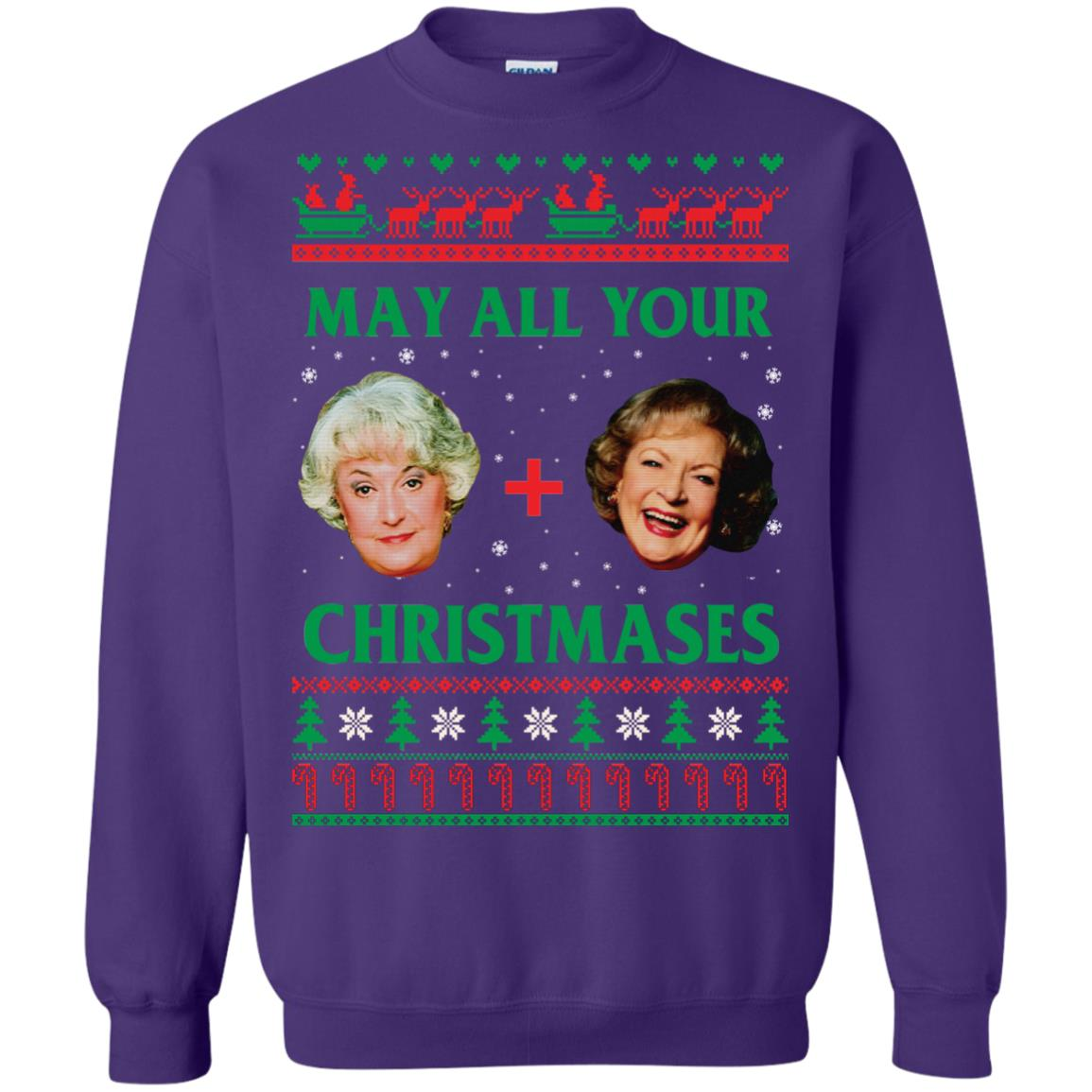 image 423px The Golden Girls: Dorothy and Rose May All Your Christmases Sweater