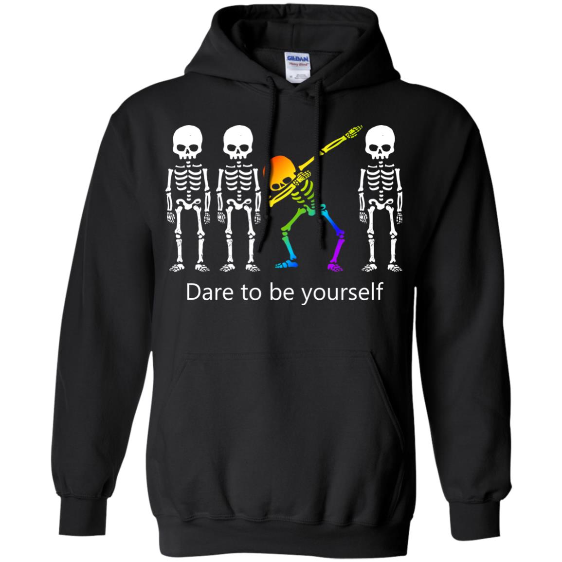 image 517px Dabbing Skeleton Dare to be yourself T Shirts