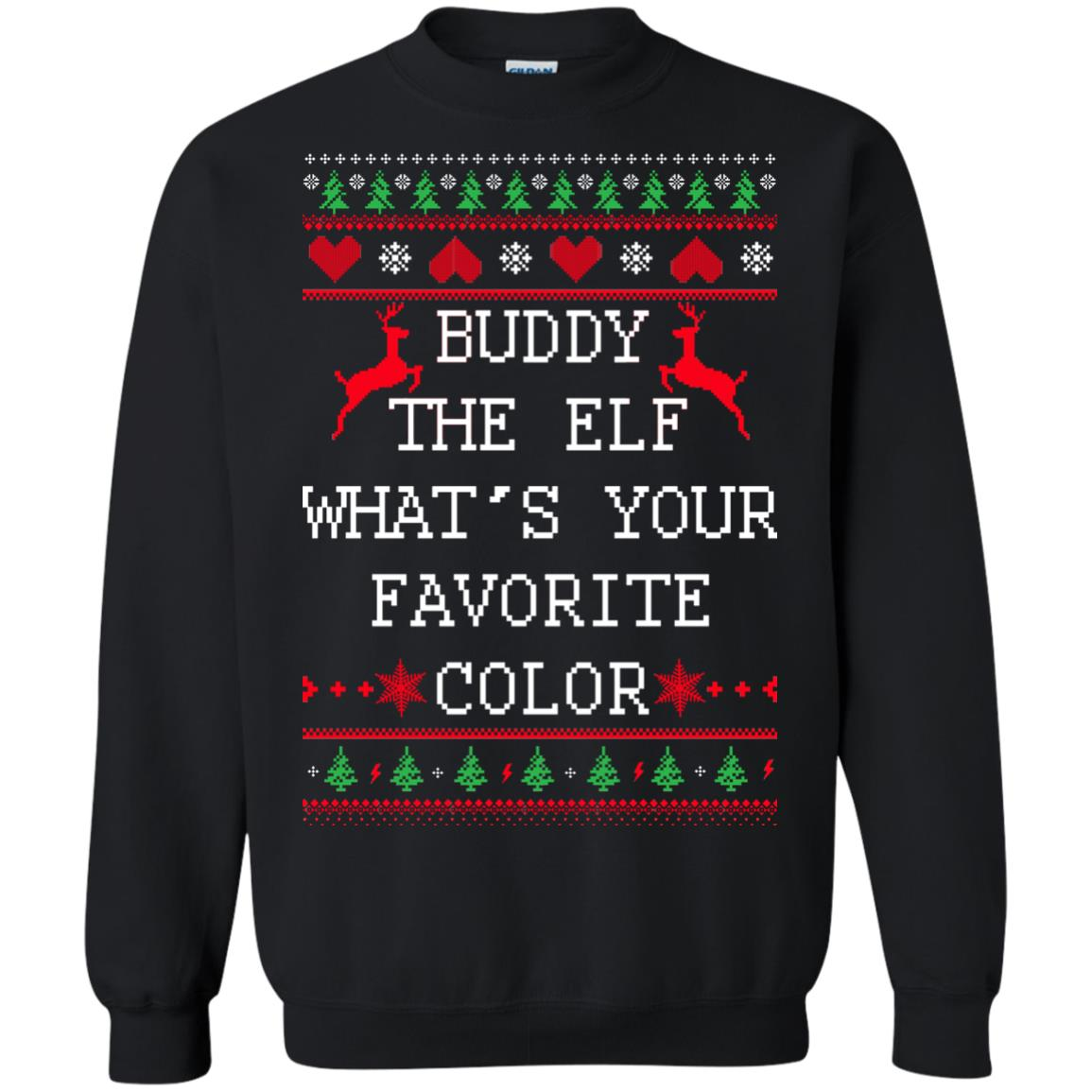image 581px Buddy The Elf What's Your Favorite Color Christmas Sweater