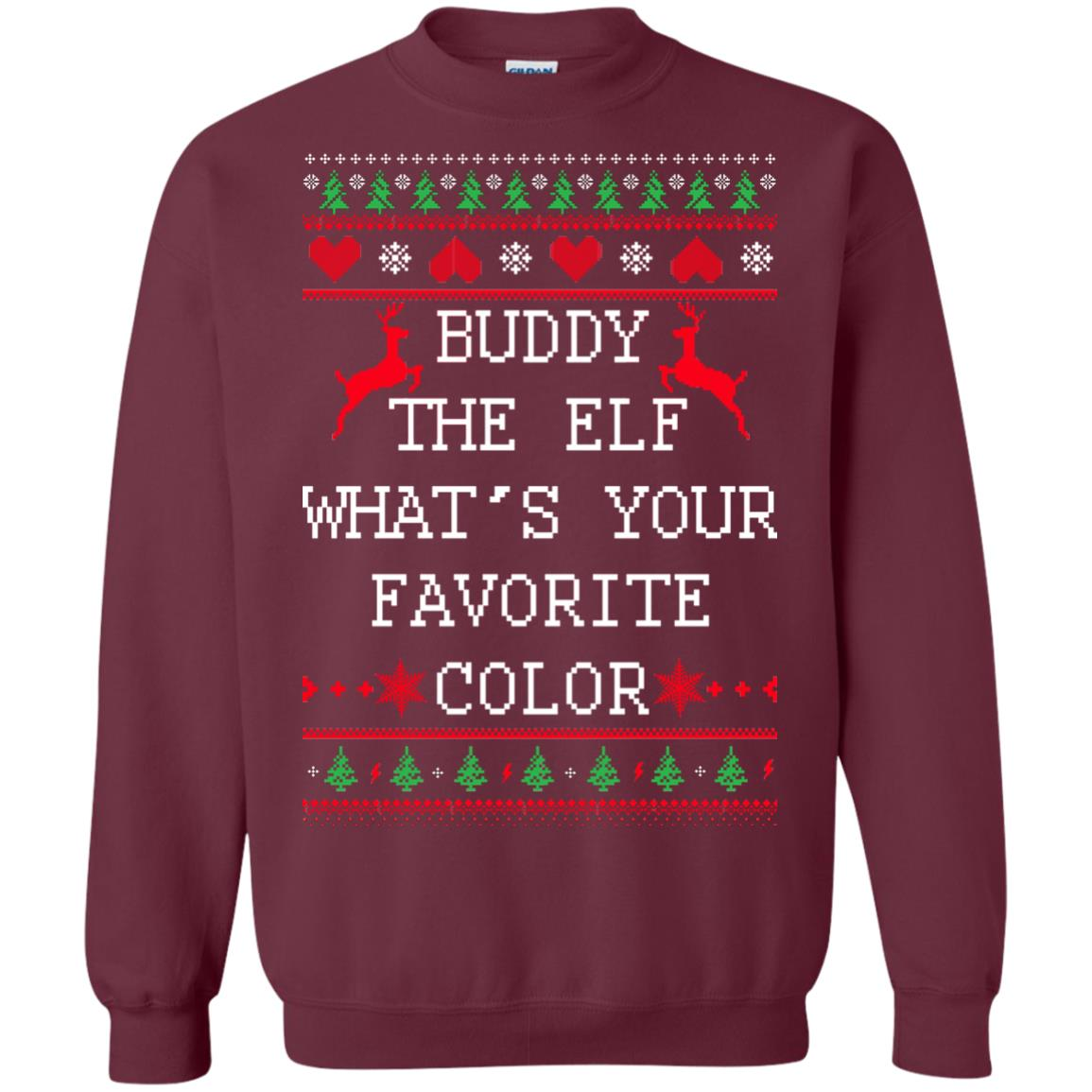image 582px Buddy The Elf What's Your Favorite Color Christmas Sweater