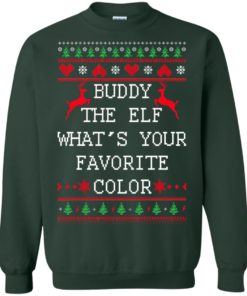 image 584 247x296px Buddy The Elf What's Your Favorite Color Christmas Sweater