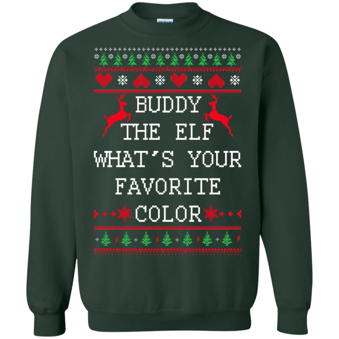 image 584px Buddy The Elf What's Your Favorite Color Christmas Sweater