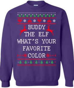 image 586 247x296px Buddy The Elf What's Your Favorite Color Christmas Sweater