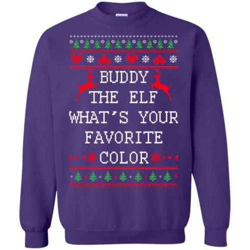 image 586 490x490px Buddy The Elf What's Your Favorite Color Christmas Sweater